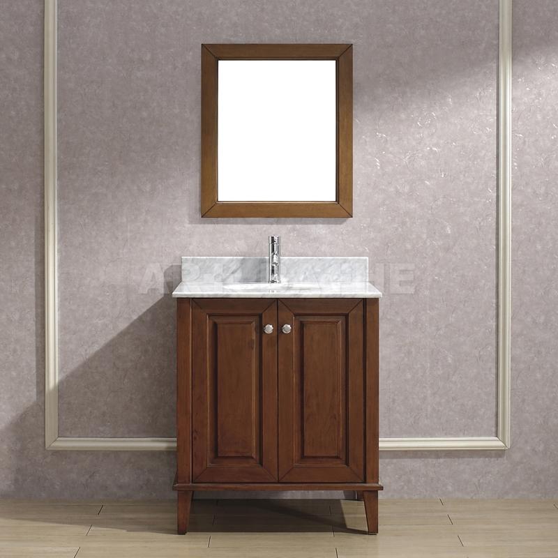 Lily 30 Classic Cherry Bathroom Vanity, Cherry Bathroom Vanities
