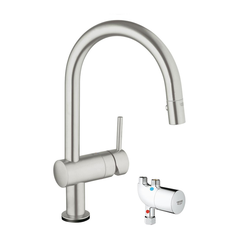 Grohe Minta Touch Pull Down Kitchen Faucet With Touch Technology