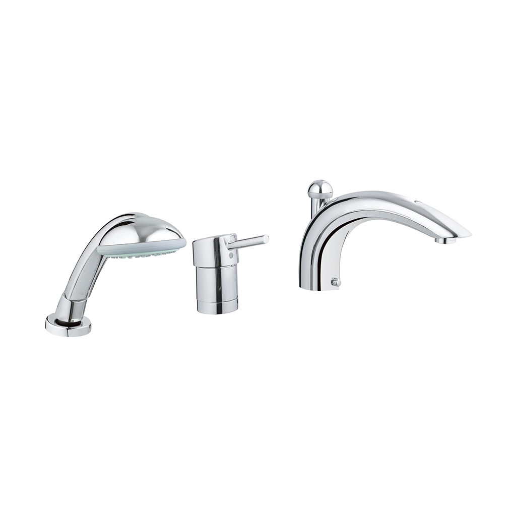 Grohe Concetto Three Hole Single Handle Bathtub Faucet With Handshower Bradshaw Plumbing