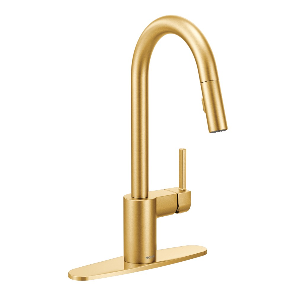 Moen Align Brushed Gold One Handle High Arc Pulldown Kitchen Faucet